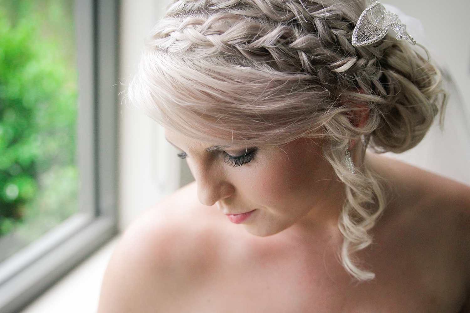 Blonde Double Braid Updo