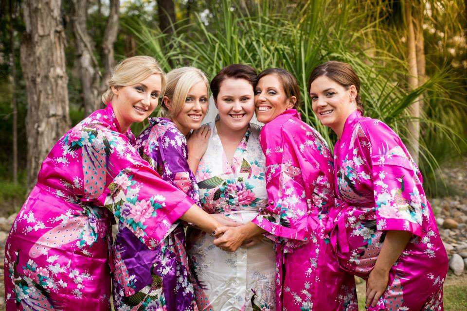 Hot Pink Bridesmaid Robes