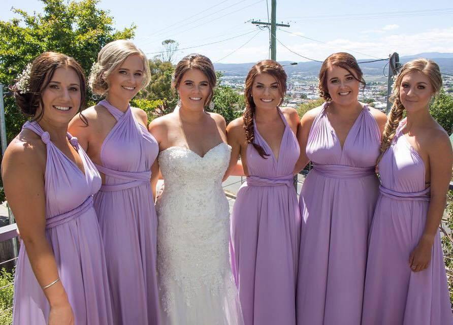True Bride | Long Lilac Bridesmaid Dresses