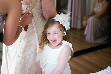 Flower Girl Laughing