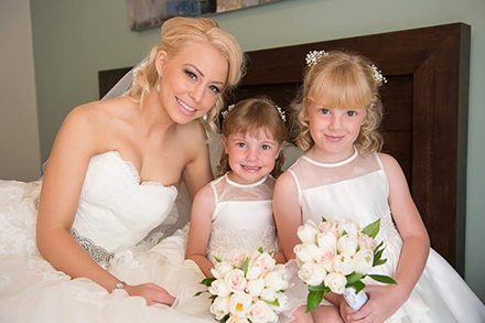 Flower Girls with Bride