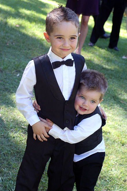 Page Boys with bow ties