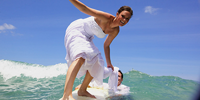 Destination Wedding Surfing