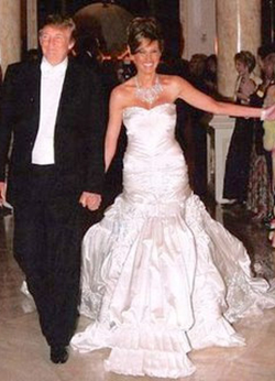 Melania and Donald Trump Wedding Gown