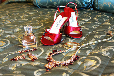 Red Wedding Shoes, Jimmy Choo