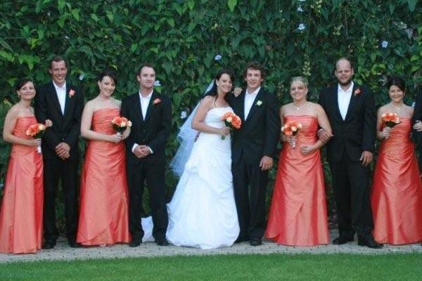 Or halter orange bridesmaid dresses all making a stunning statement