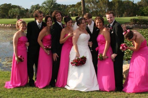 Pink Black Bridesmaid Dresses - black halo dresses