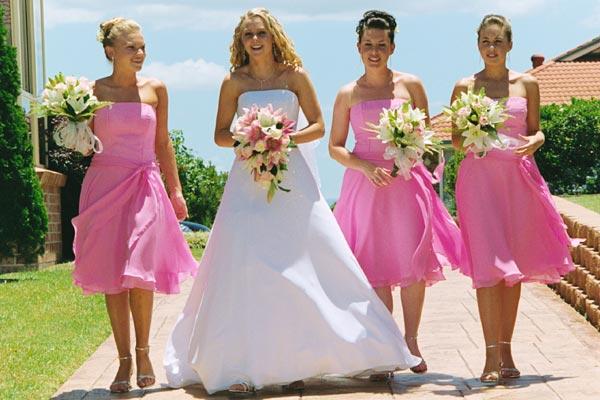 softpink bridesmaid dresses