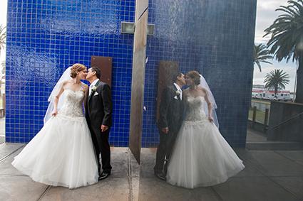 Bride, Adriana Oritz with her father