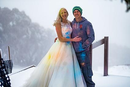 Bride & Groom, Belinda & Nathan Stewart, trash your wedding dress
