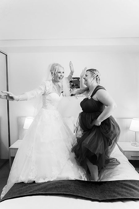 Bride & Groom, Jessica & Mark Trezona with bridal party