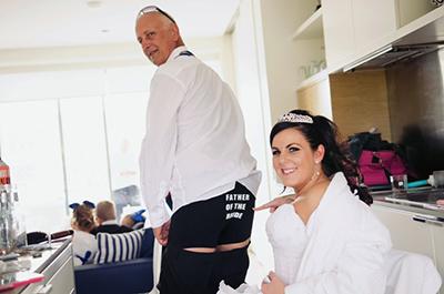 Bride & Groom, Natalie & Lee Curtis