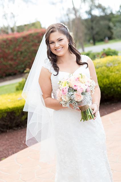 Bride, Emma Lomas with Bridesmaids