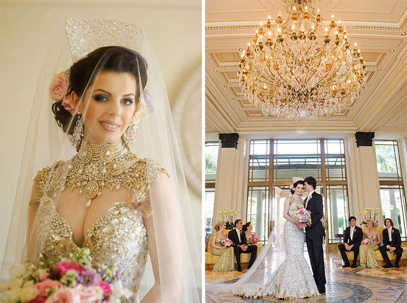 Ornate Gold Wedding Gown